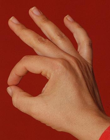 Hand language, ok